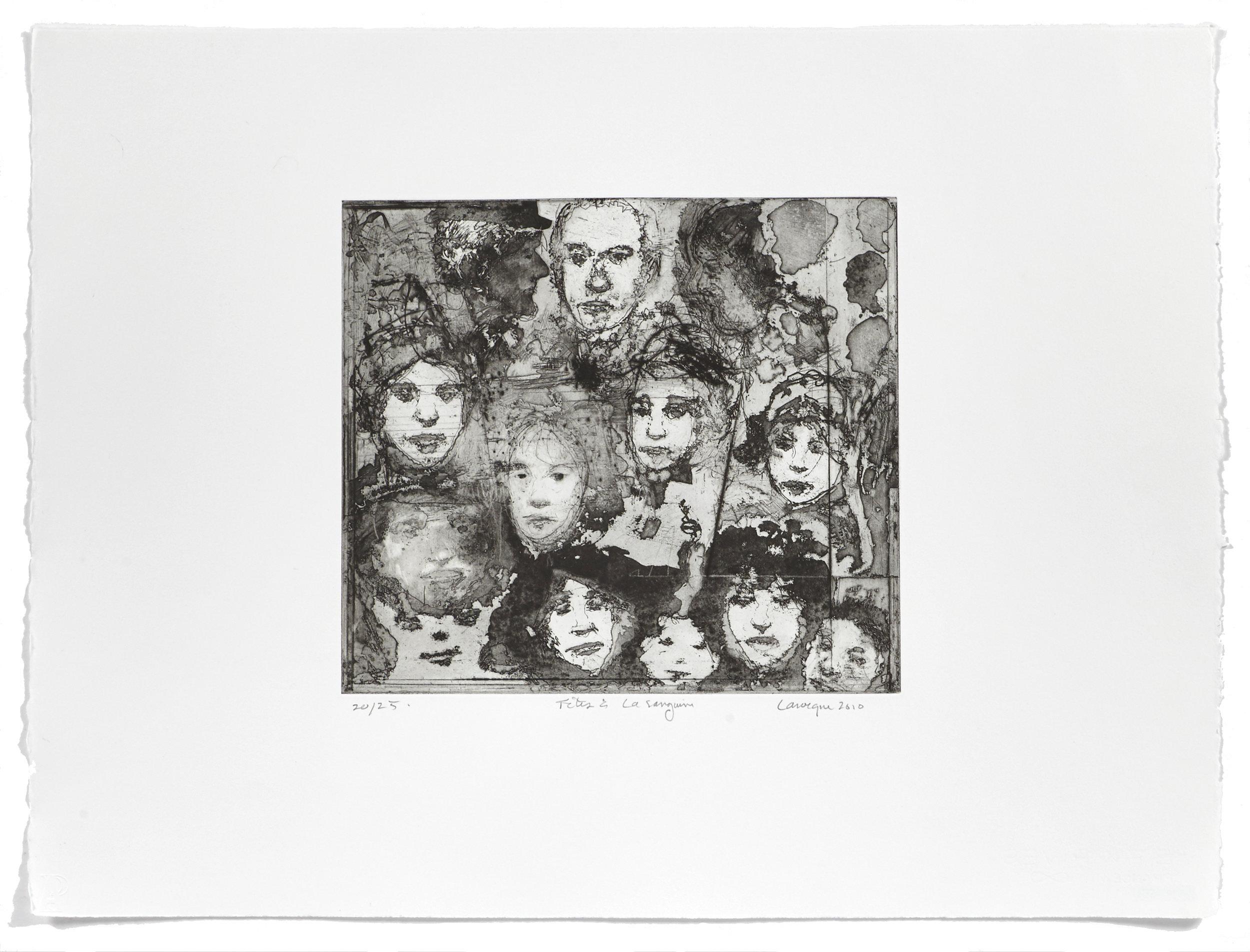 Têtes à la sanguine   2010 | 50 x 65cm | Eau-forte and aquatint | 25 prints | Editor Atelier-Galerie A. Piroir