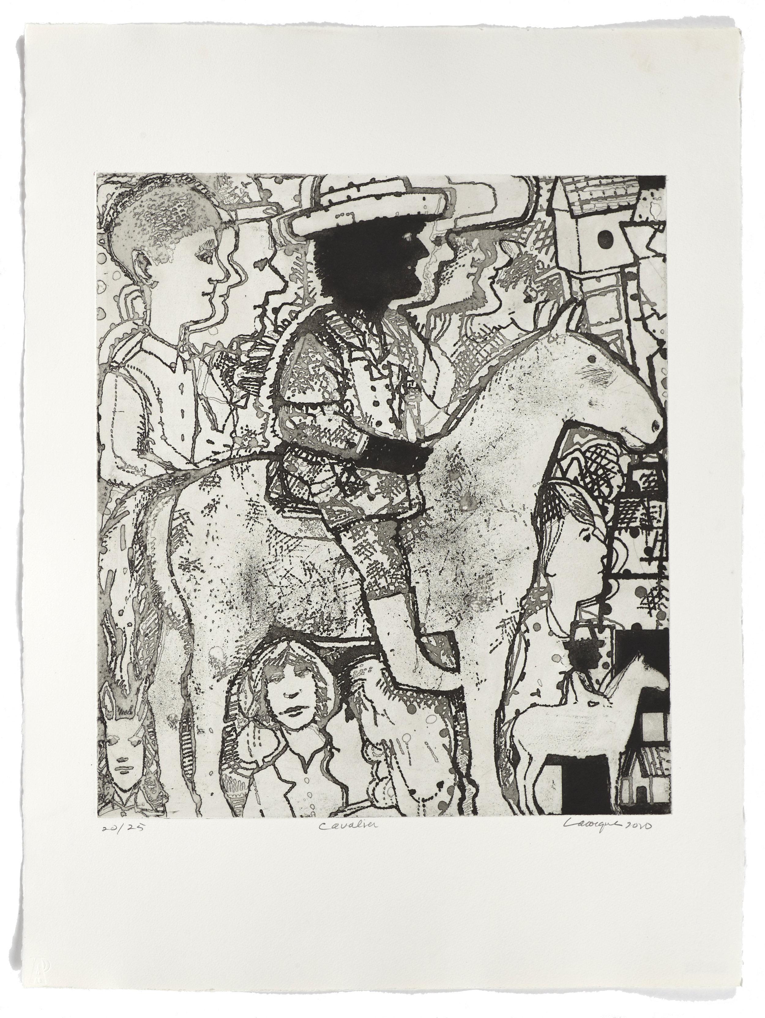 Le cavalier   2010 | 76 x 56cm | Eau-forte | 25 prints | Editor Atelier-Galerie A. Piroir