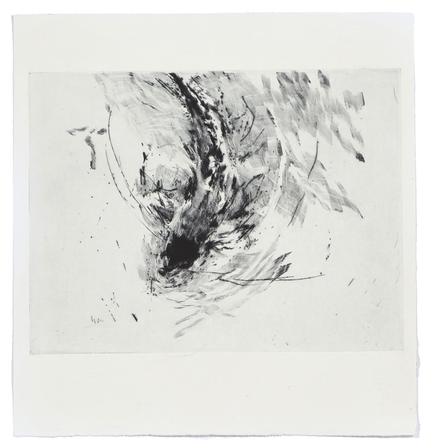 Miraculous Draught of Fishes    2012 | 37 x 35 cm | Dry point