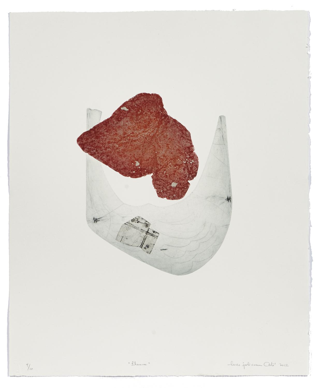 Fleuve    2012 | 61 x 50 cm | Eau-forte, chine and cut plates | 10 prints