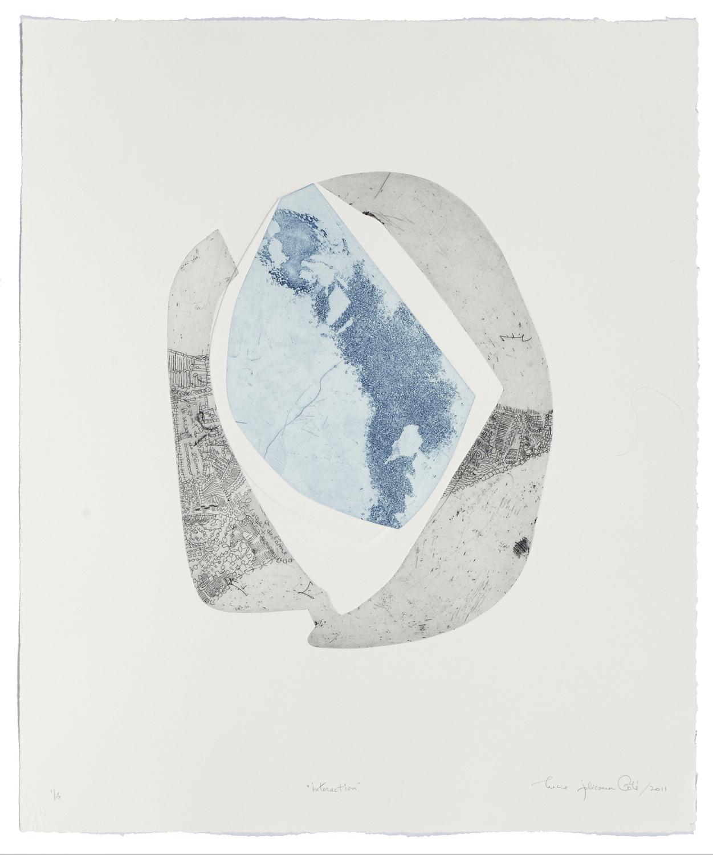Interaction    2008 | 66 x 51 cm | Eau-forte and cut plates | 15 prints