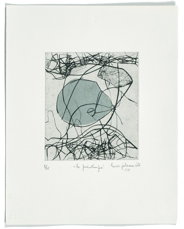 Le printemps    2014 | 35 x 28 cm | Drypoint and mezzotint | 15 prints