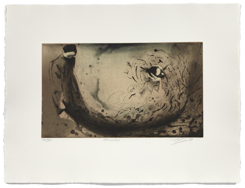 Tourbillon   1991 | 50 x 65cm | Aquatint and chine collé | 50 prints | Editor Atelier-Galerie A. Piroir
