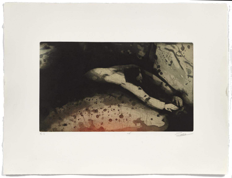 Chers enfants   1991 | 50 x 65cm | Aquatint and chine collé | 50 prints | Editor Atelier-Galerie A. Piroir