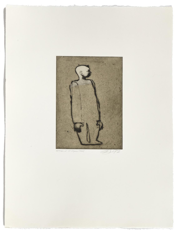 Tête blanche     1997 |  65 x 50 cm | Drypoint, eau-forte et chine collé | 30 prints