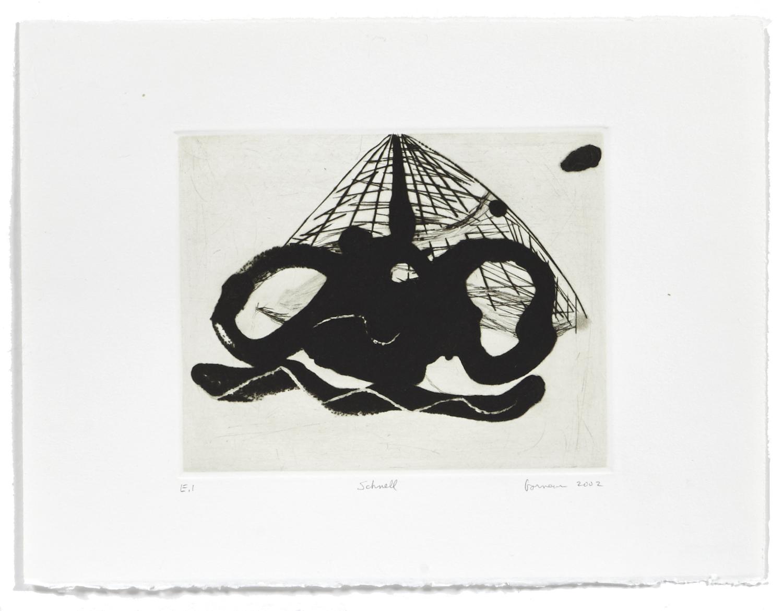 Schnell    2002 | 29 x 38 cm | Carborundum and drypoint
