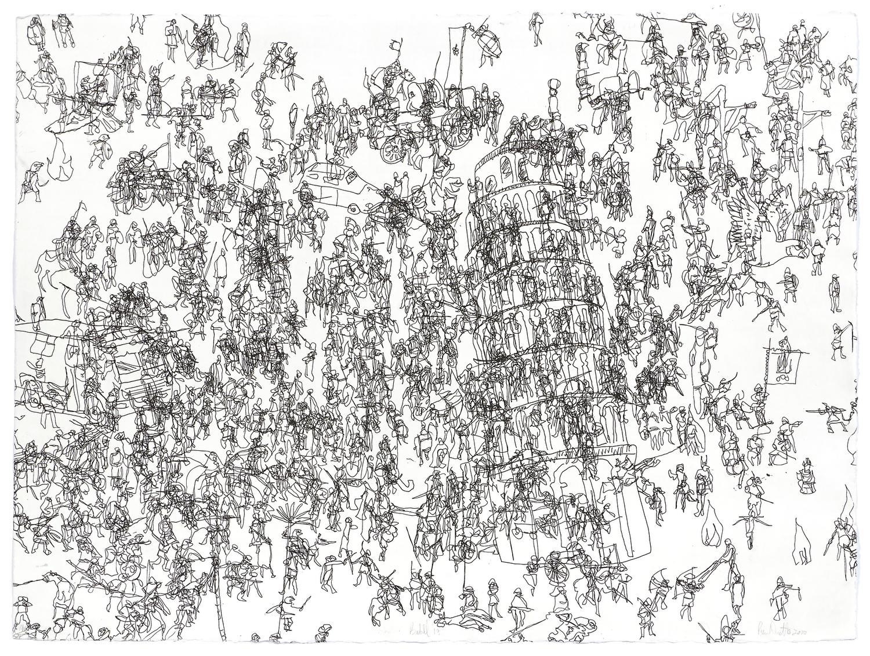Babel 18    2010 | 56 x 76cm | Eau-forte | 15 prints