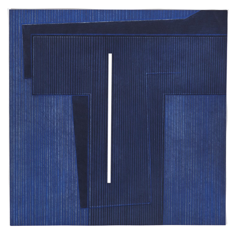 5 Variations un thème de 5M3 #2    2008 | 48 x 48cm | Eau-forte | 15 prints | Editor Atelier-Galerie A. Piroir and Galerie Éric Delvin.
