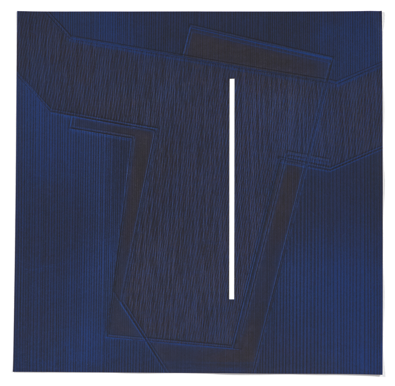 5 Variations un thème de 5M3 #3    2008 | 48 x 48cm | Eau-forte | 15 prints | Editor Atelier-Galerie A. Piroir and Galerie Éric Delvin.