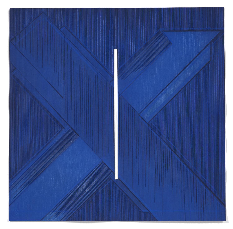 5 Variations un thème de 5M3 #5    2008 | 48 x 48cm | Eau-forte | 15 prints | Editor Atelier-Galerie A. Piroir and Galerie Éric Delvin.