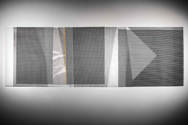 Scope of Shadows II - Egg of Columbus   (item 1)  2016 | 97 x 293 cm | Linocut on interfacing paper