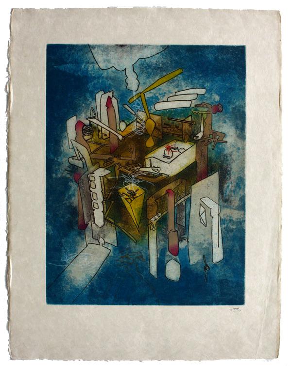 67 x 52cm | Aquatint, eau-forte on China pearl | Editor Georges Visat