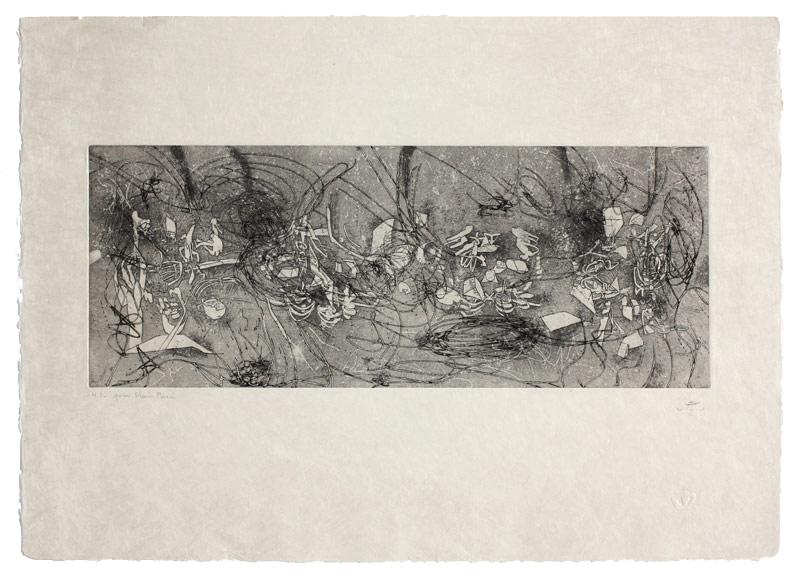 45 x 63cm | Aquatint, eau-forte on China pearl | Éditor Albert Dupont