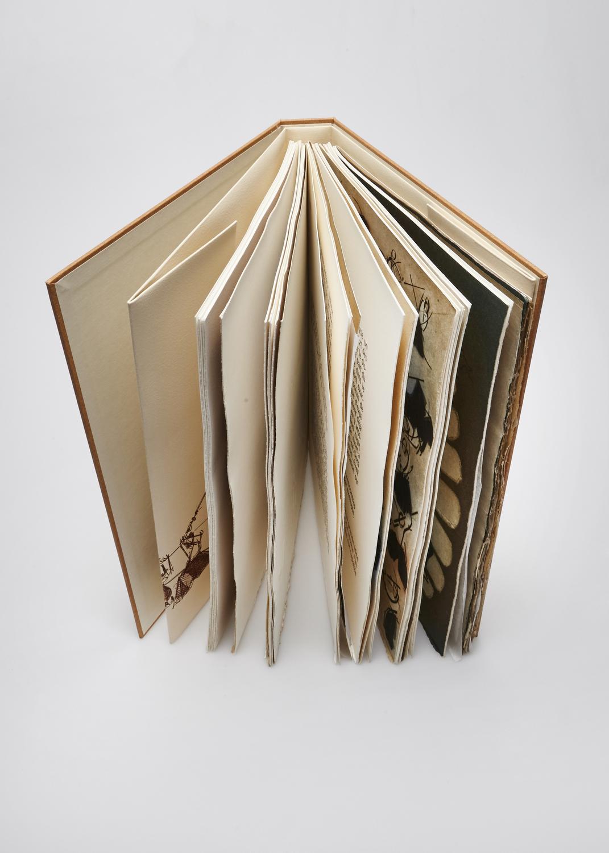 La Voie du Guerrier    Engraving and text by Vincent Bardet  1986 | 34 x 26.5 cm | eau forte et typography |  190 prints | editor Les Bibliophiles de France