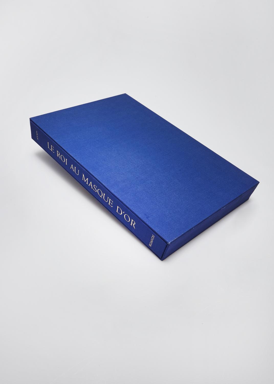 Le roi au masque d'or    Text by Marcel Scwob and engraving by   2012 | cm | gravure et typographie | 30 exemplaires | éditeur Wequetequock Cove
