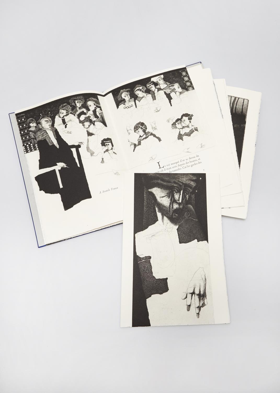 Quatre fois son portrait dans les États-Unis d'Amérique    Texte James Sacré et gravure Julius Baltazar  2012 | 33 x 25 cm | gravure et typographie | 30 exemplaires | éditeur Wequetequock Cove