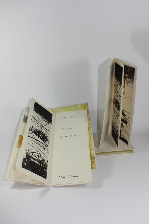 Songes    Texte Michel Déon et gravure Julius Baltazar  1990 | cm | gravure et typographie | exemplaires