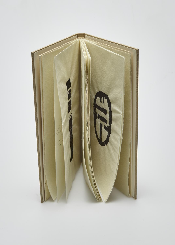 A l'infini le sable    Texte Julius Baltazar et gravure Raoul Ubac  1985 | 25 x 17 cm | gravure et typographie | 85 exemplaires | édition Maeght