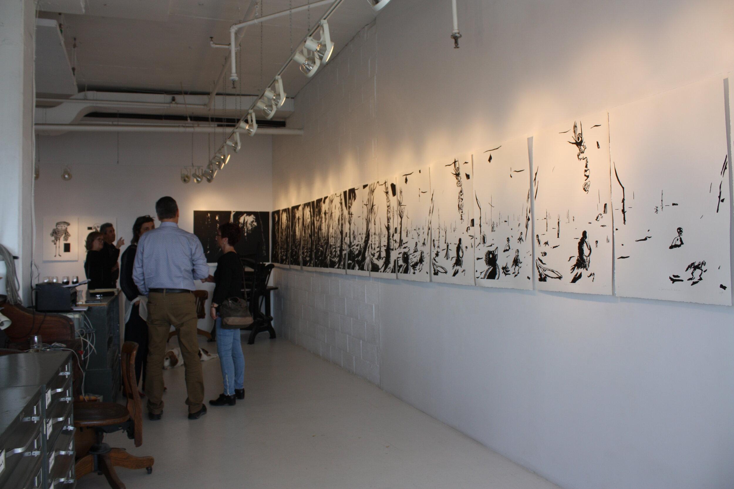 Vue de l'exposition, site web de l'artiste Voilaine Fayolle -