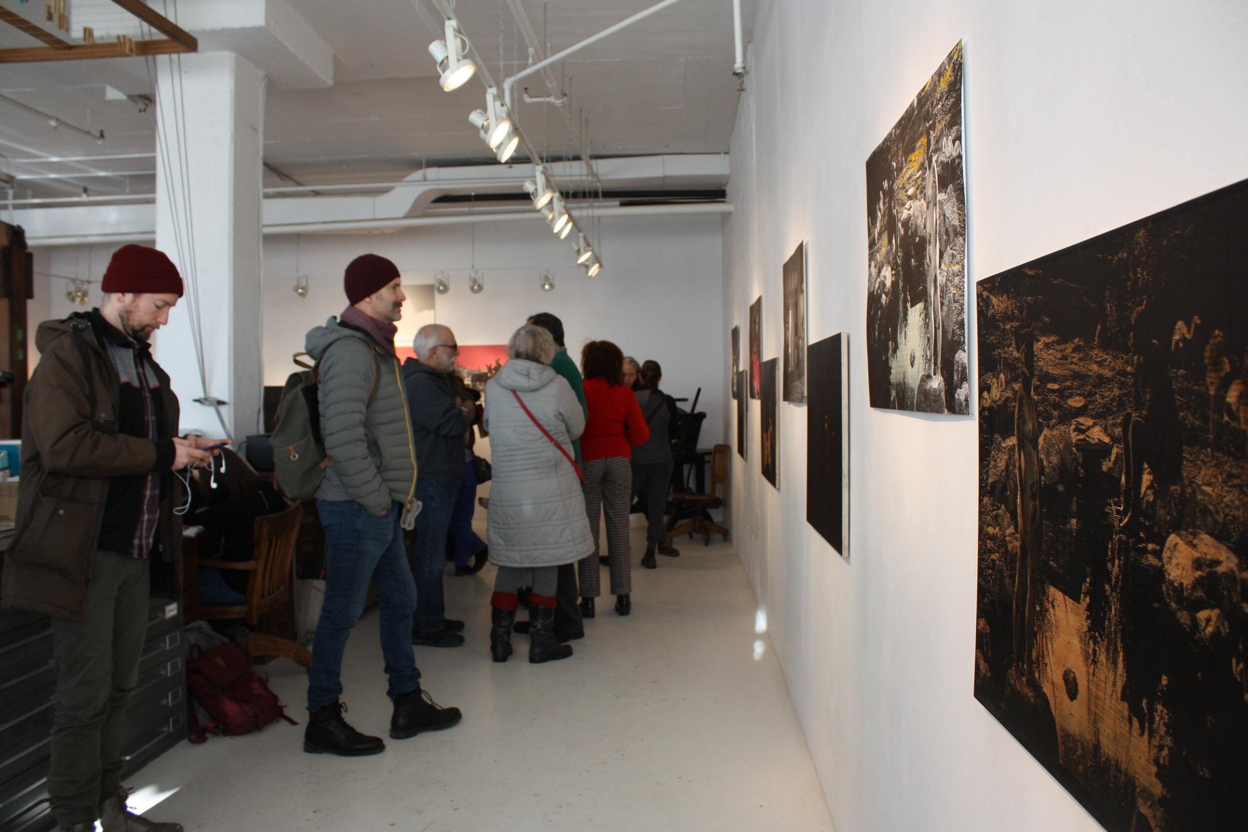 Vue de l'exposition, site web de l'artiste Bonnie Baxter -