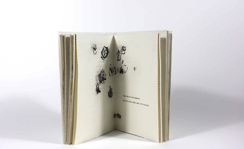 L'écorce du souvenir, Texte Hélène Dorion et gravure Carole Bernier, 2017, 18 x 11 cm, gravure et typographie, 30 exemplaires, édition Faiseurs d'Images -