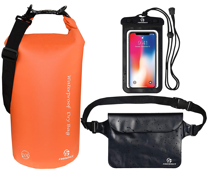 Freegrace Waterproof Dry Bags Set of 3