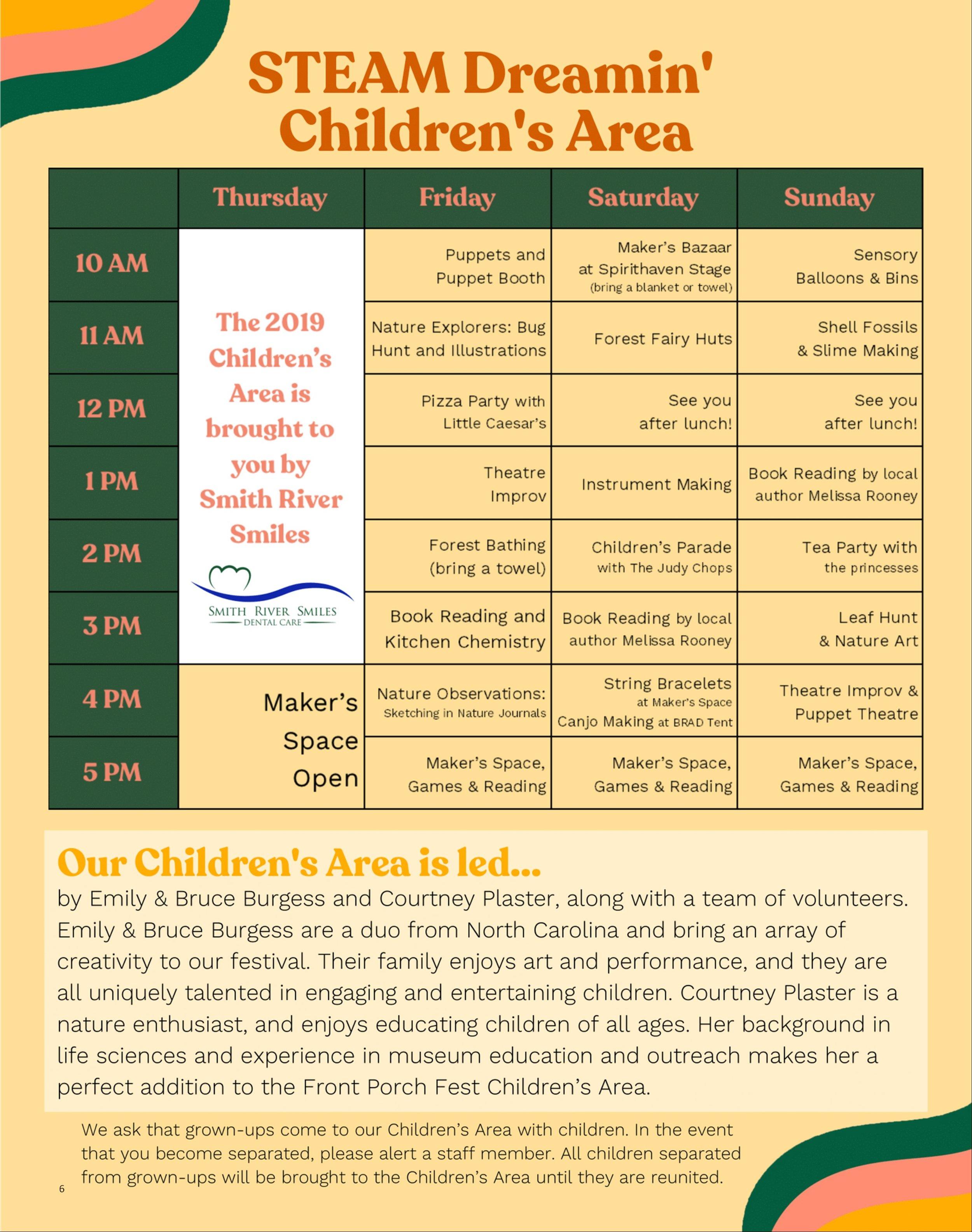 Children'sAreaShcedule