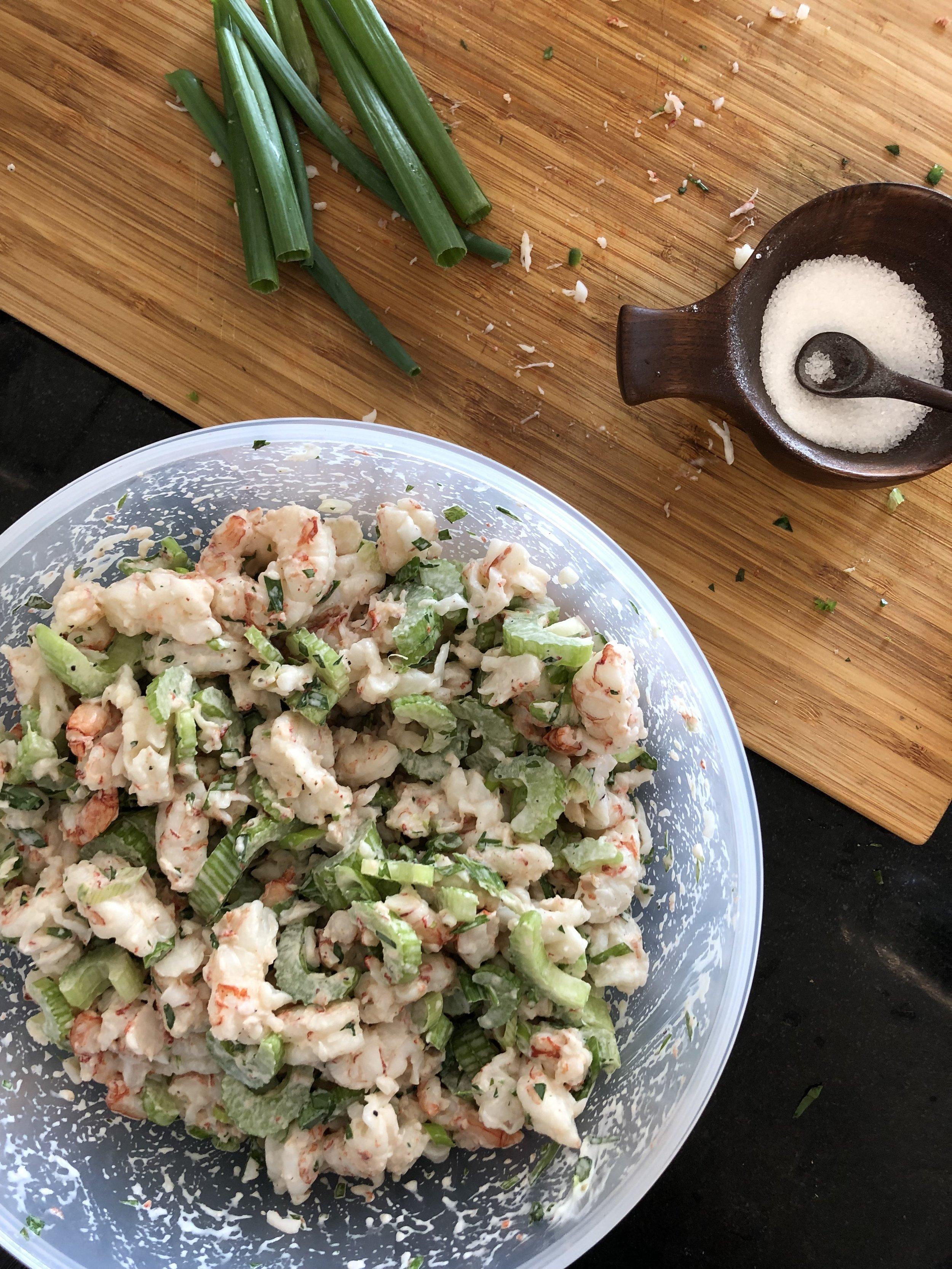 Tarragon Shrimp Salad Dia Dishes