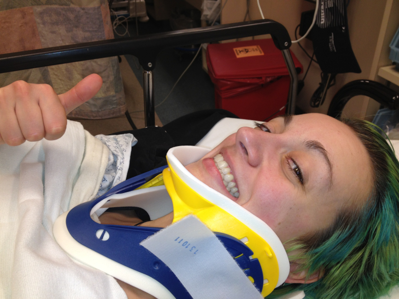 That's me with my new neck brace in the hospital back in 2012.