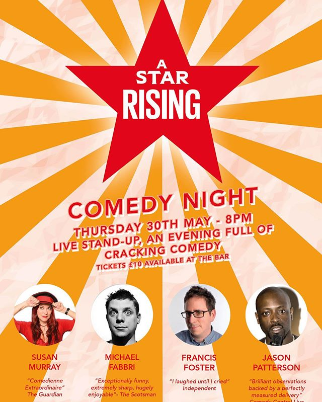 💫DON'T MISS OUT💫 This is going to be a cracking night of stand up comedy at the Star ⭐️Thursday 8pm #comedynight #plumstead #thestarse18