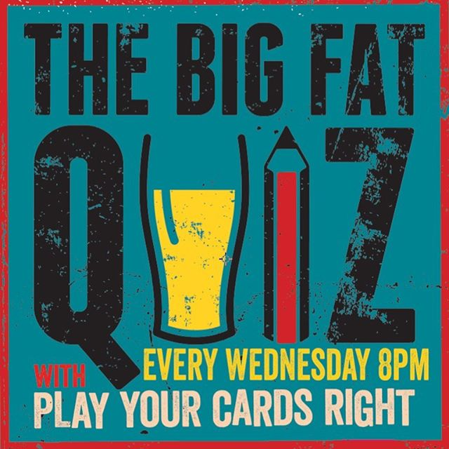 "@thebigfatquizco are back hosting its weekly evening full of fun, laughter and trivia.  Bar tab to be won and a ""Play Your Cards Right"" CASH jackpot every week could be yours. £2 entry fee per person - Max 6 people per team  Good luck everyone! #quiznight #thestarse18 🙌"