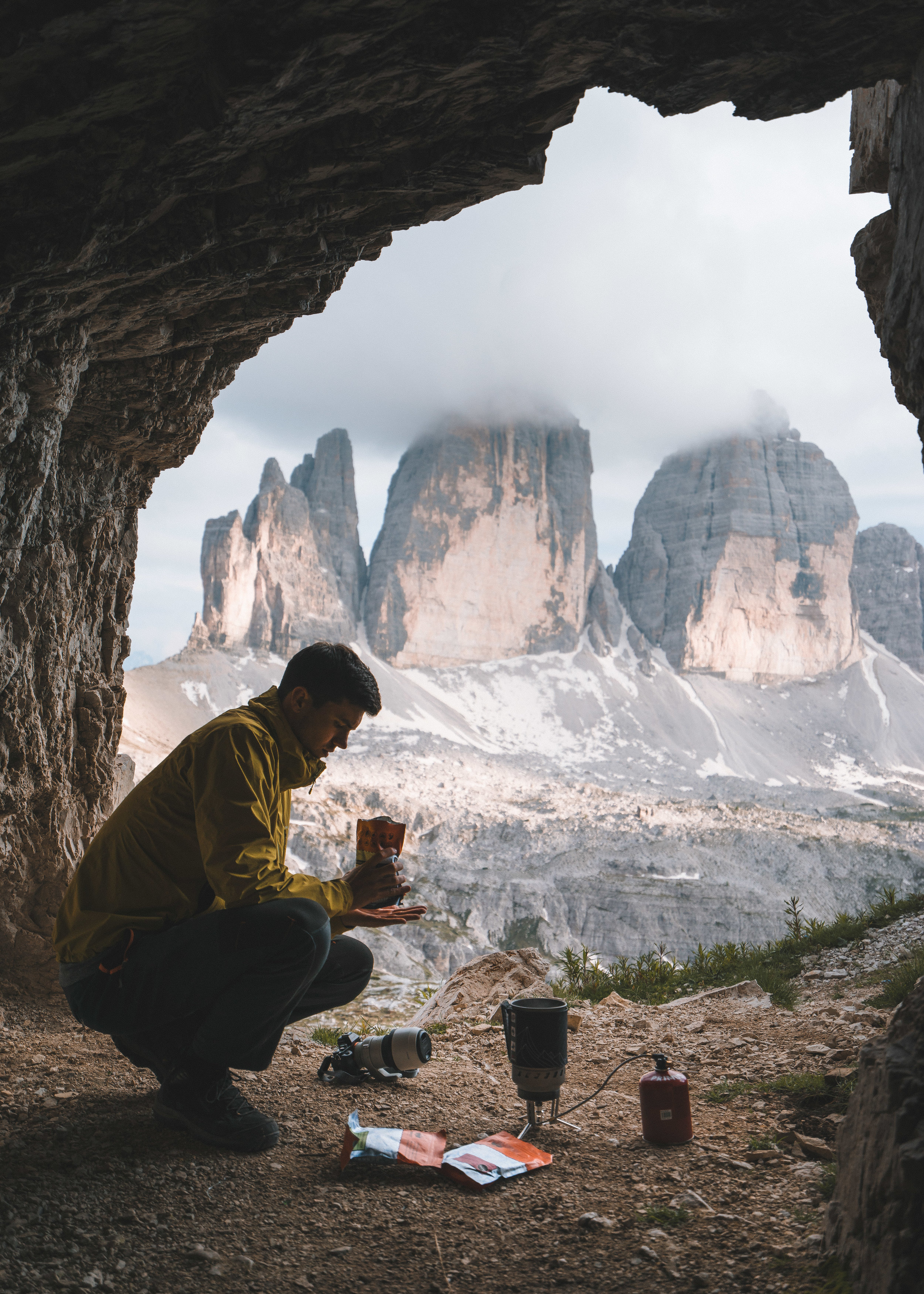 Cooking in a cave at Tre Cime (1 of 1).jpg
