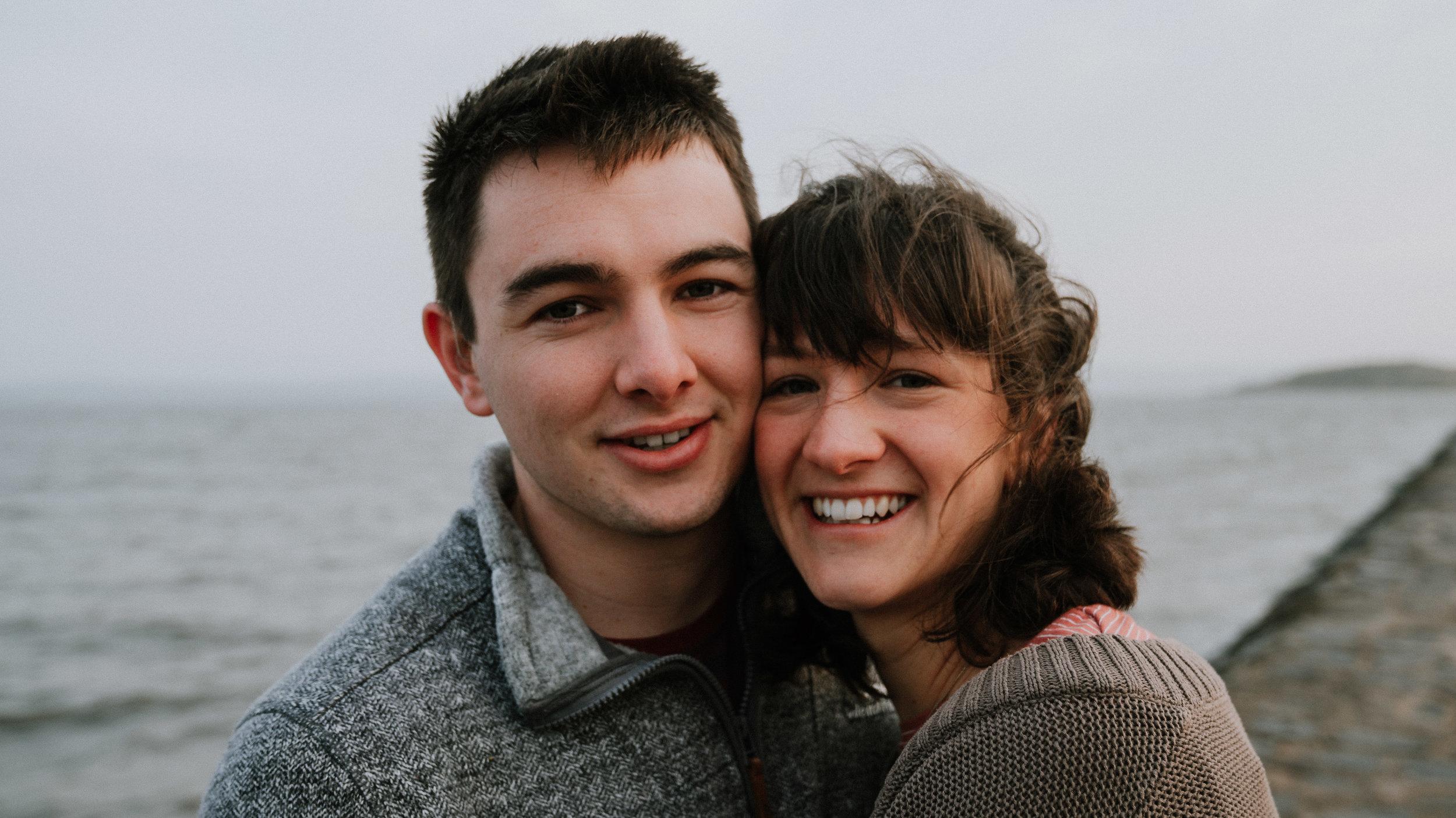 SALLY & HUGH - Engagement Shoot at Cramond Beach, Edinburgh