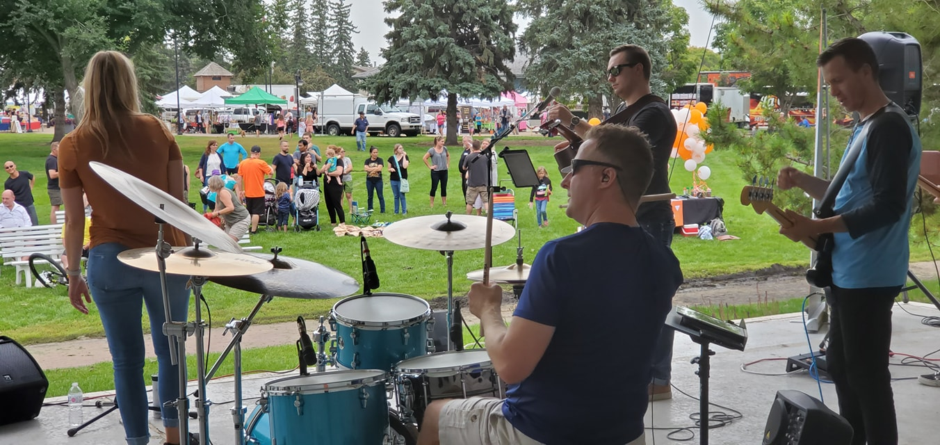 Bridge Band Collective playing at Concerts in the Park - Legacy Park August 2019