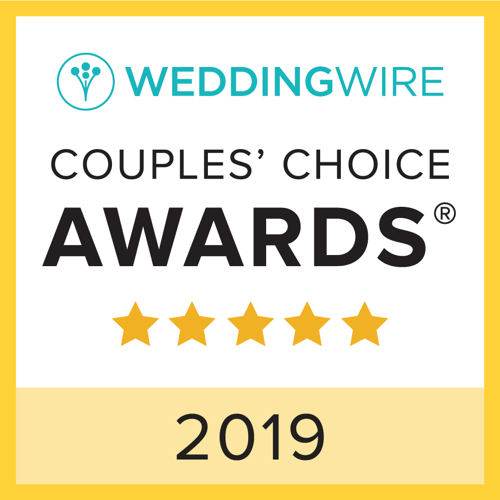 We are so honored to be received Wedding Wire Couples' Choice Award for 2018 and 2019.