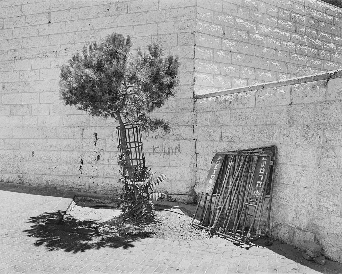 March 17, 2002, French Hill Intersection, Jerusalem. Photographed: January 2005