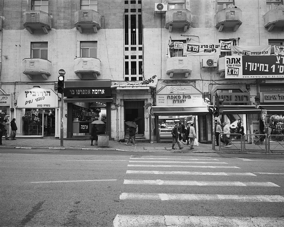 March 21, 2002, King George Street, Jerusalem. Photographed: February 2003