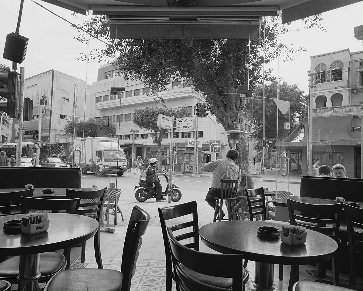 """March 30, 2002, """"My Coffee Shop"""", Tel Aviv. Photographed: February 2003"""