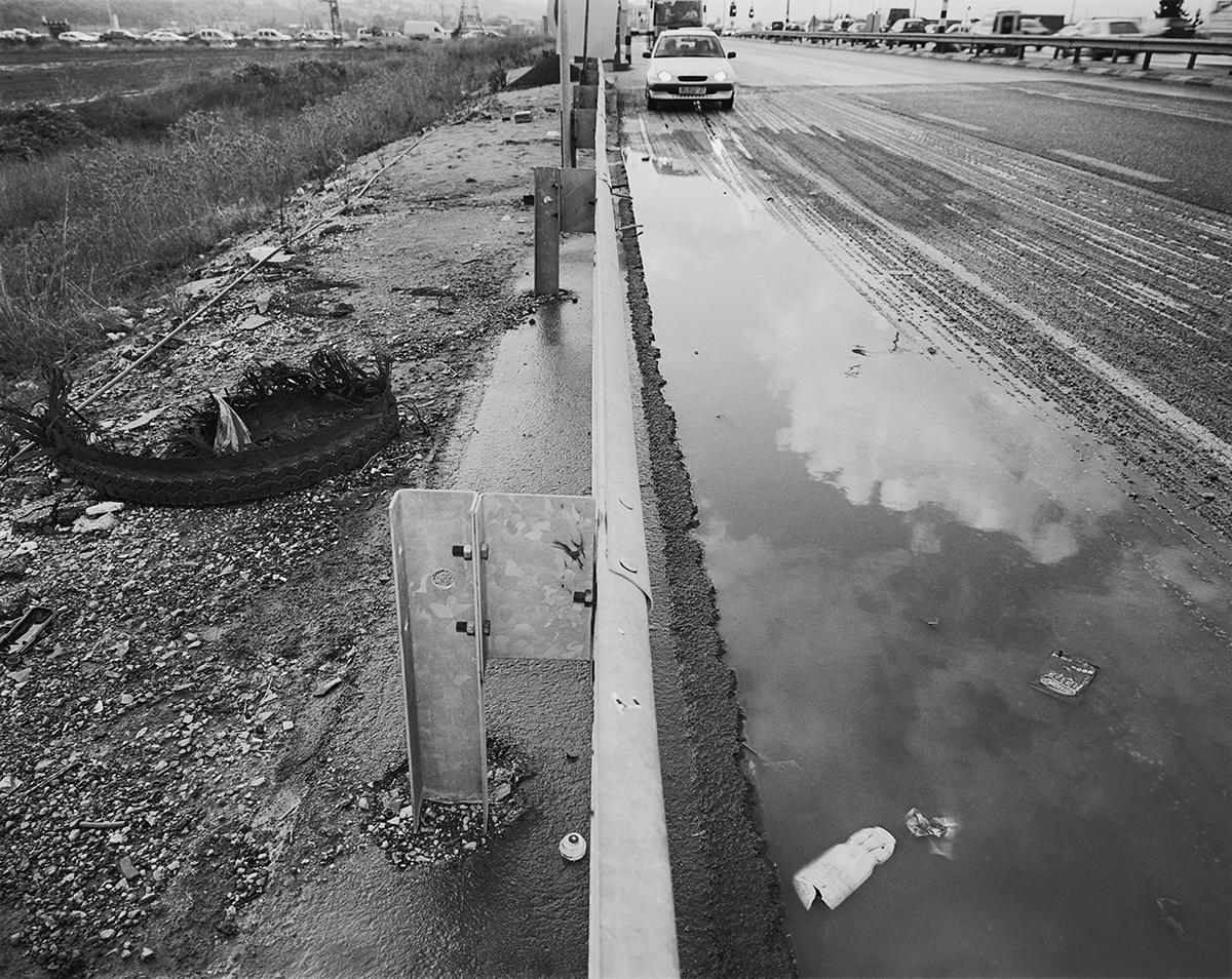 April 10, 2002, Kibbutz Yagur Intersection. Photographed: February 2003