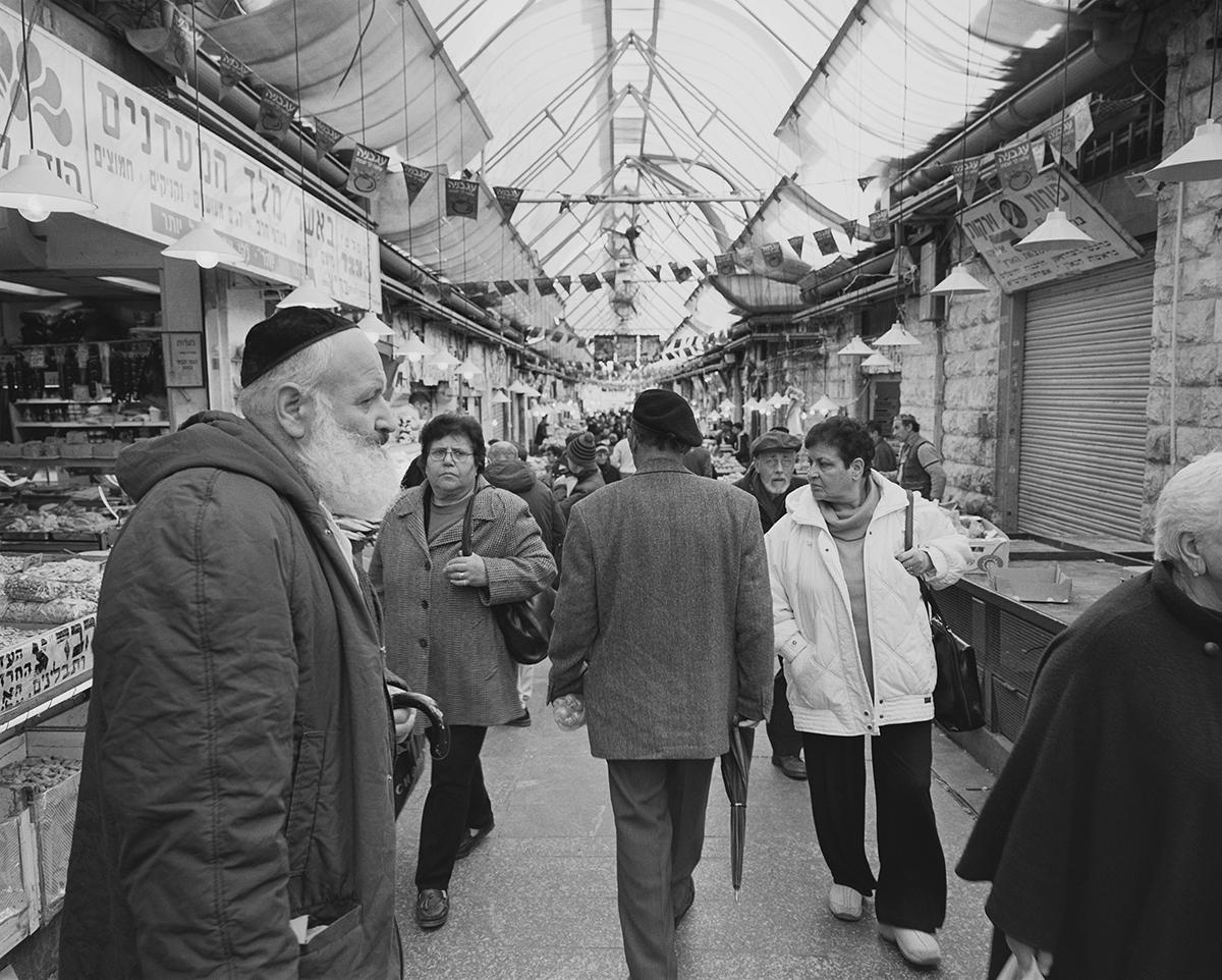 April 12, 2002, Mahane Yehuda Market entrance, Jerusalem. Photographed: August 2003