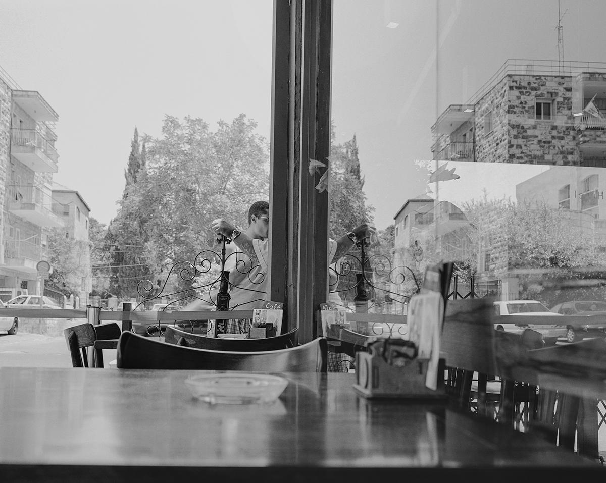 "September 9, 2003, Cafe ""Hillel"", Jerusalem. Photographed: January 2004"