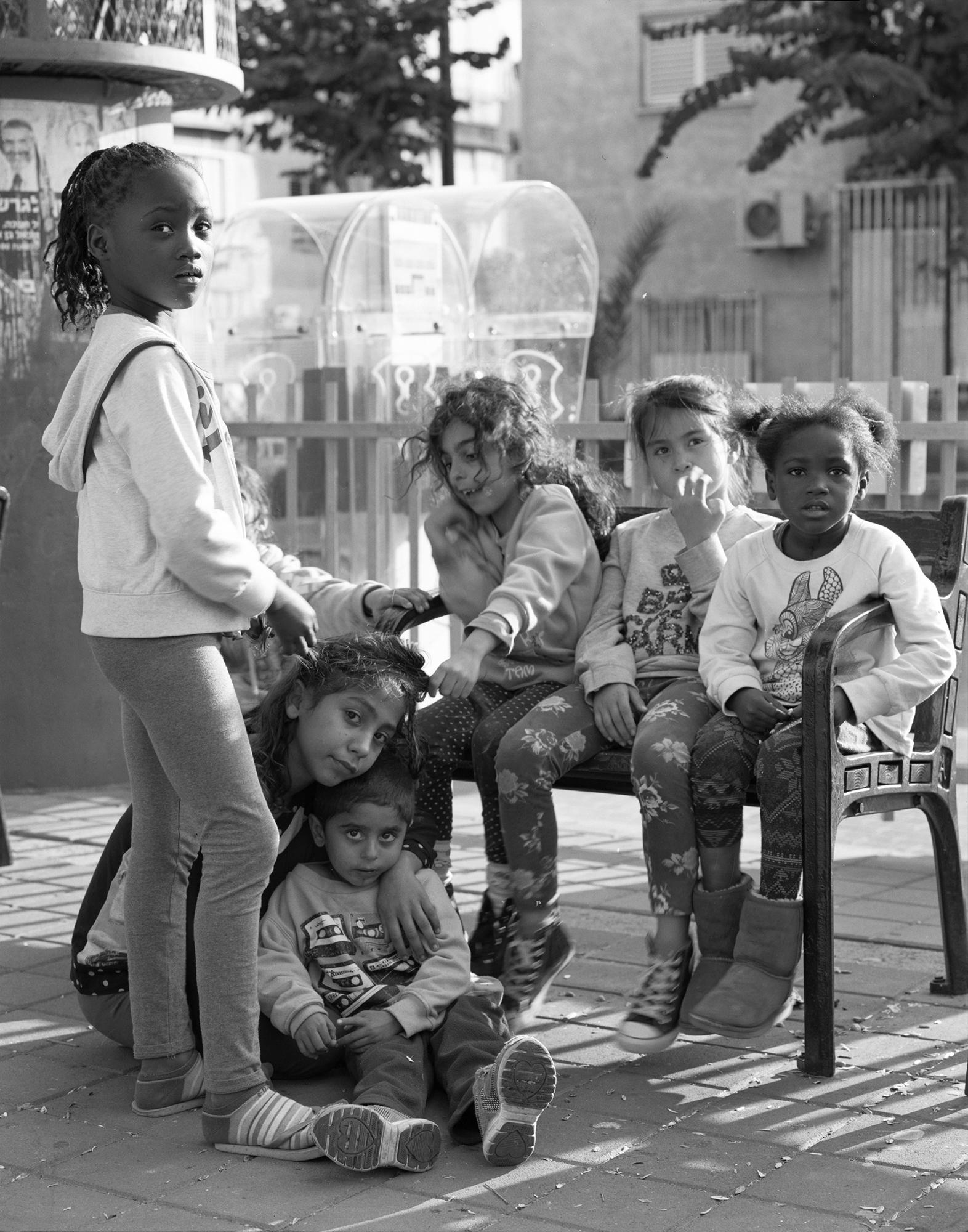 Kids in a public park, Neve Sha'anan, 2015