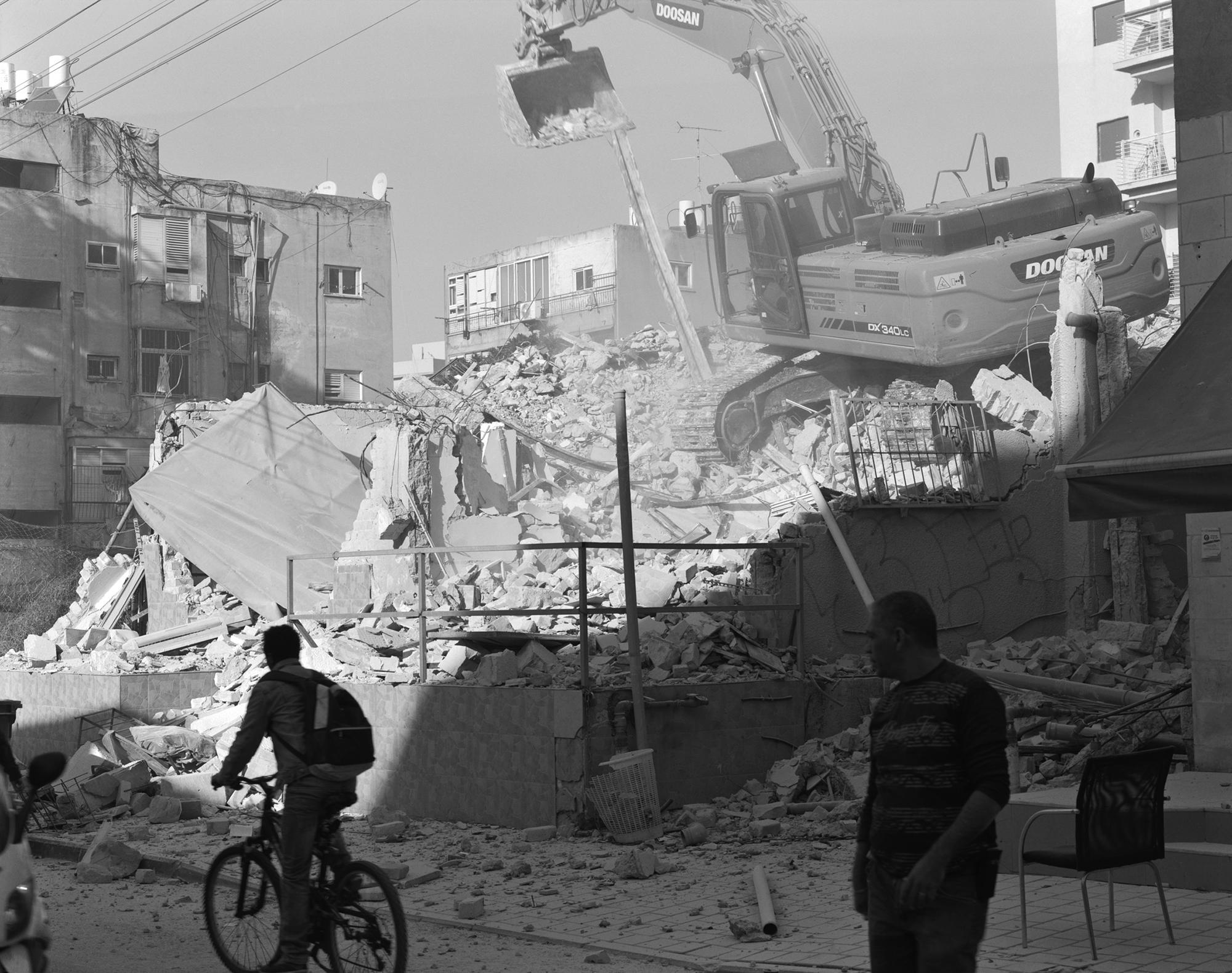 Demolition, Yesod Hamaale Street. Neve Sha'anan, 2015