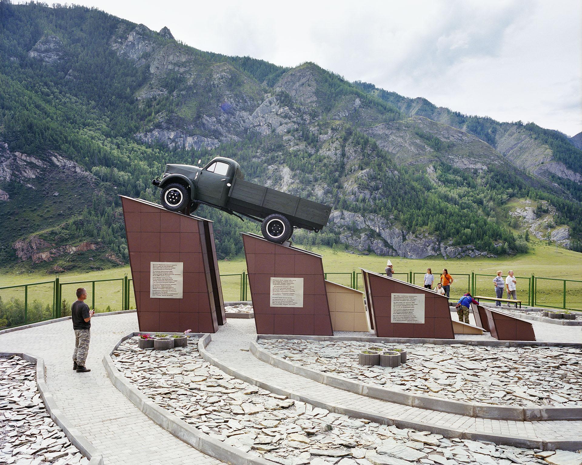 The Monument for Kolka Snegiriov, Chuysky highway Altai, Russia 2013