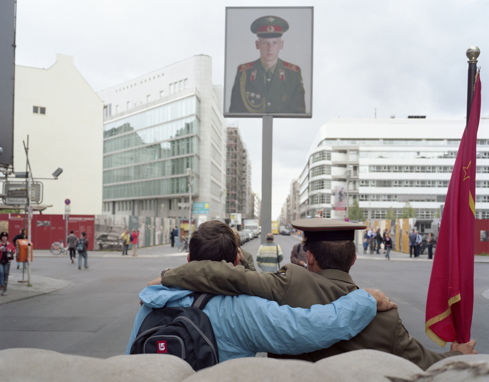 Check Point Charlie, Tourist Posing w/ Russian Soldier (1 Euro) 2007
