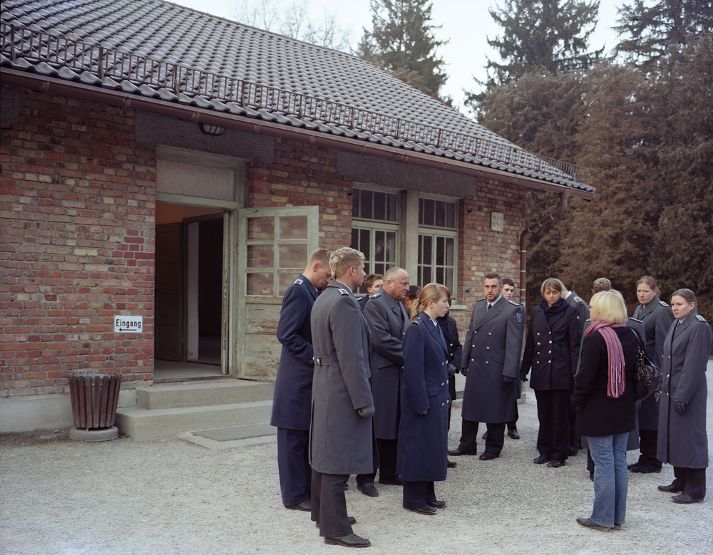 German Medical Corps Soldiers During a Tour. Dachau Concentration Camp 2007