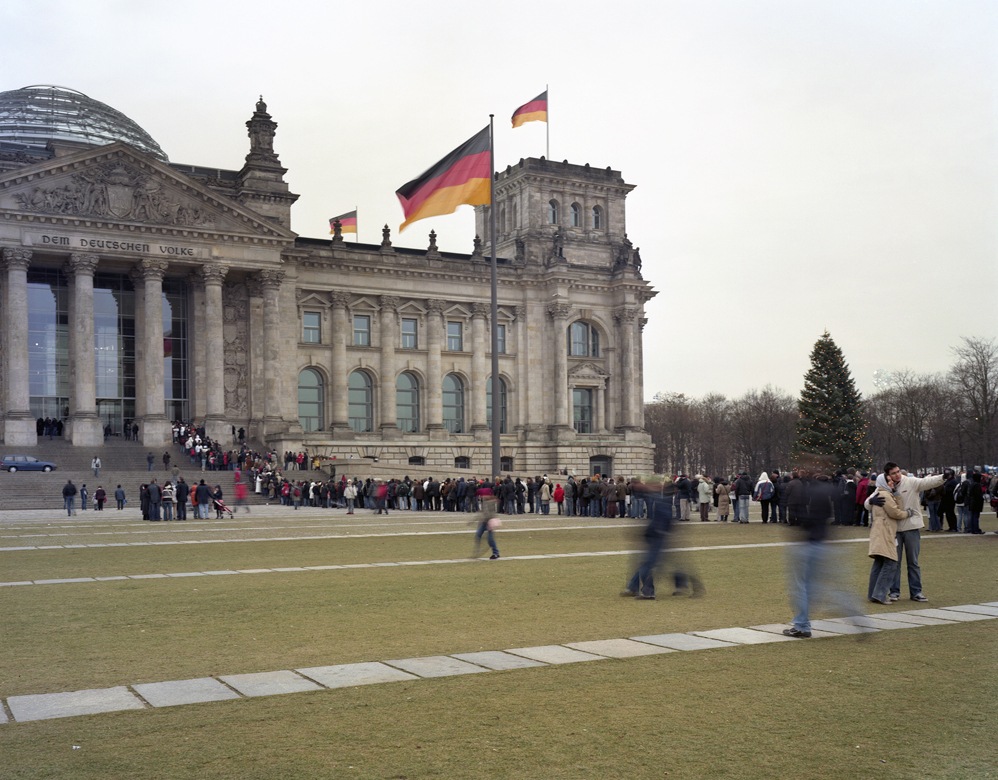 Tourists Posing for a Picture at The Reichstag 2007