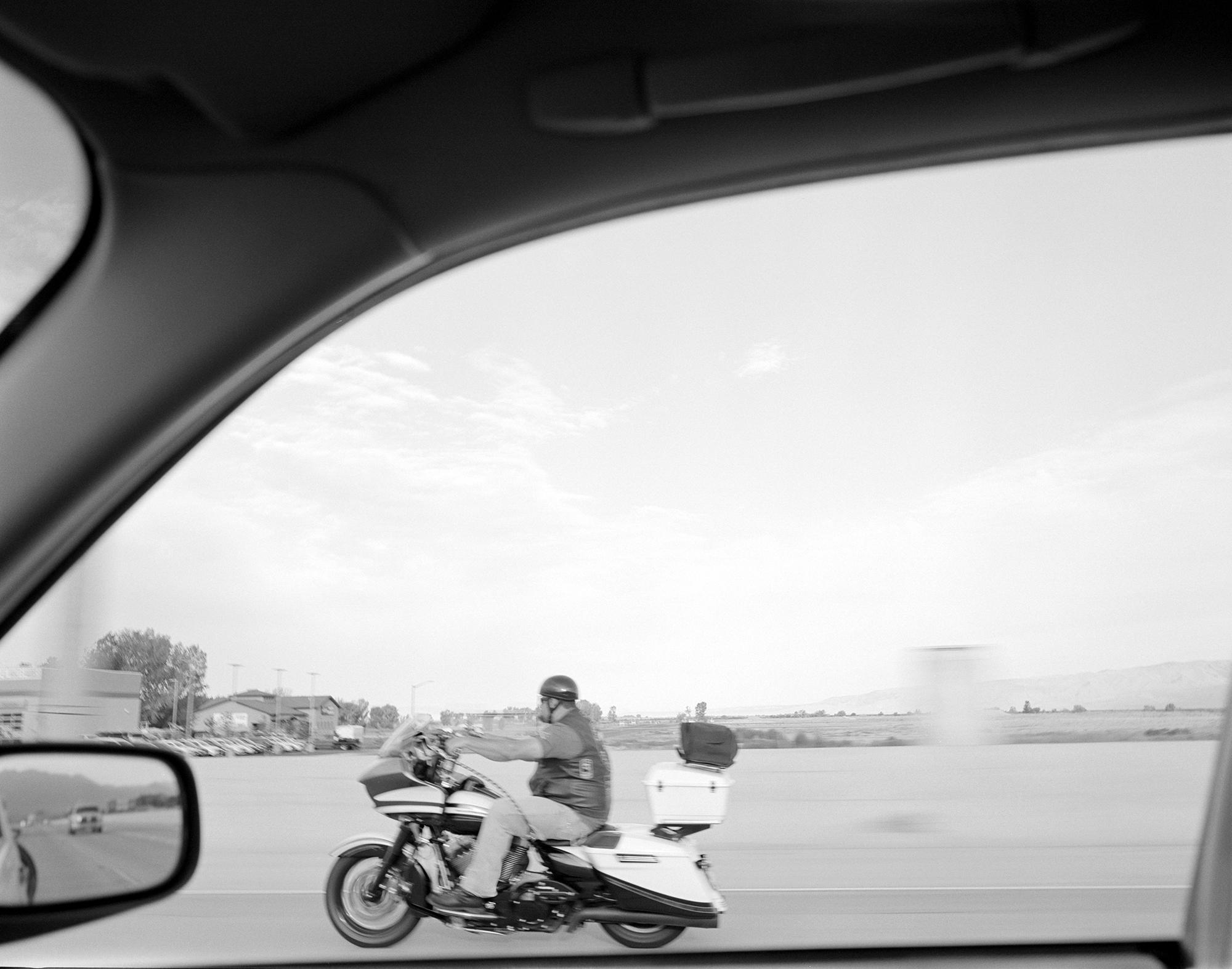 Biker, near Provo, UT