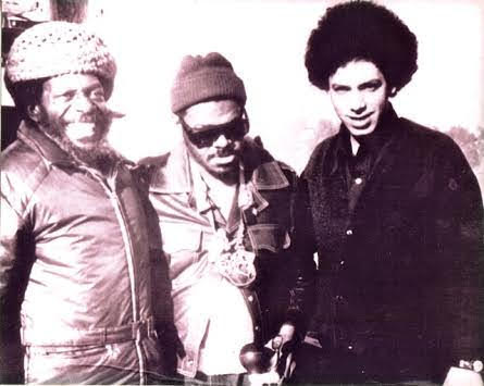 Bola Sete, Rahsaan Roland Kirk and Todd Barkan in 1972.