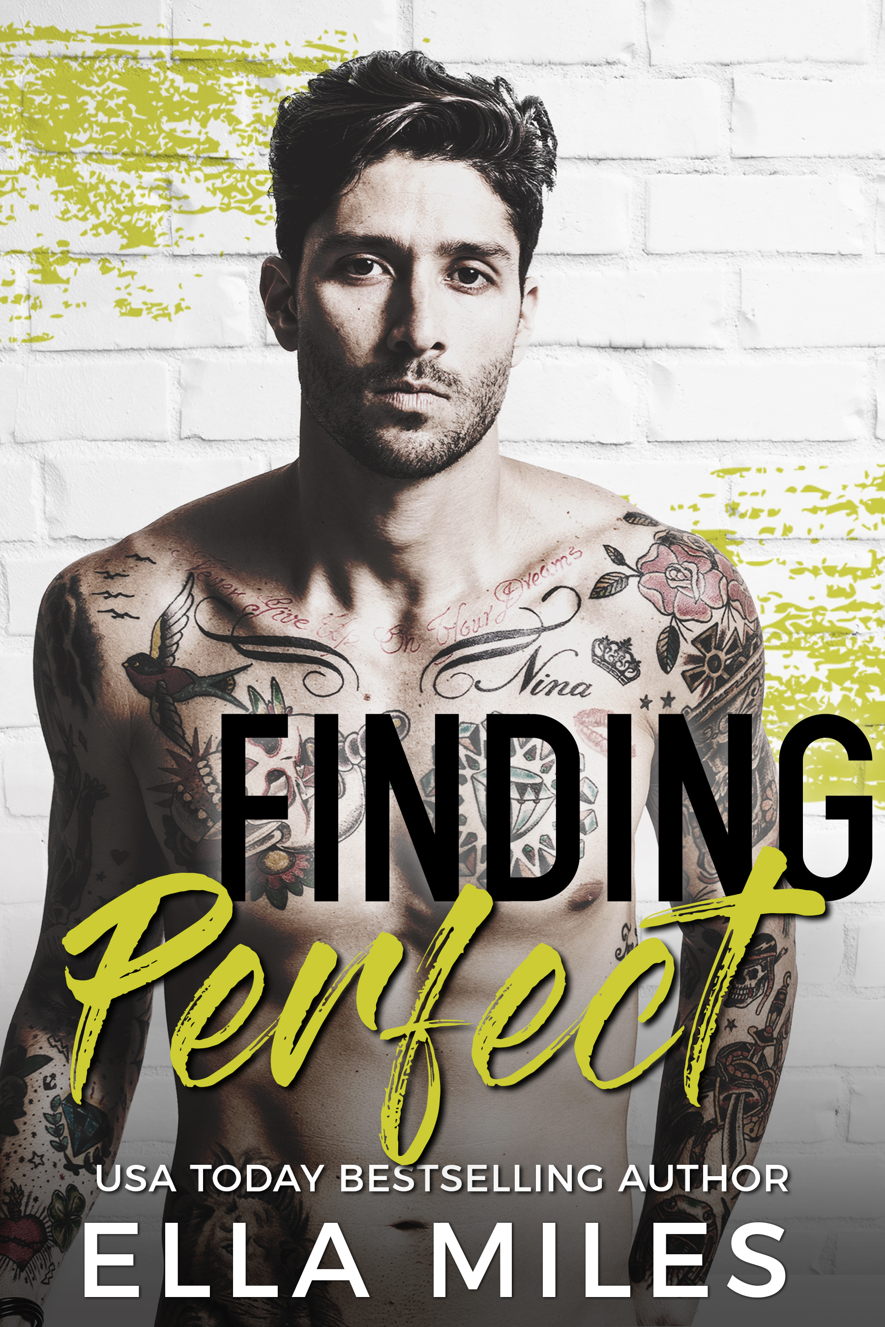 Finding perfect - Now an Amazon Top 50 BestsellerI want the perfect man, and Ace Knight isn't him.  He's a foul-mouthed, pothead, tattooed bastard.  He may have saved my life, but he also cost me my nursing career with one smug kiss.  Now I'm broke, homeless, and jobless.   I wanted a man in a suit.  Tall, dark, and handsome.  Not broken, cursing, and cynical.   Knight thinks I'm the perfect woman for him. Perfect to help him keep his ex-wife from inheriting his millions.  I can't refuse his offer. I need the money.  But what if he expects me to…sleep with him.  I can't…I won't…until he smirks and then I'm toast.  I think I need a new plan.   Bad boy + flawed girl does not equal perfect.